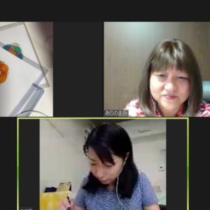 今日はオンラインで神聖幾何学ハレアート体験講座でした~♪