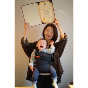 【資格取得講座】合格の証をお渡し♡子連れで最後まで頑張ったアサミちゃんへ。