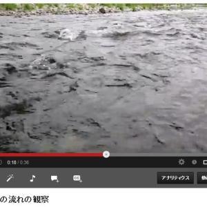 川の流れの観察