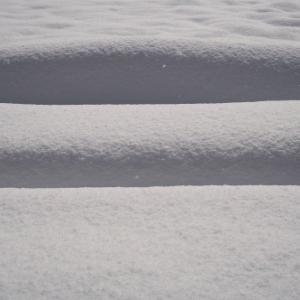大雪とツララ