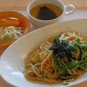 「ツナと水菜の和風パスタ」