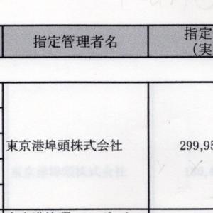 晴海客船ターミナル、現在の指定管理料、2億4千万円は妥当か?