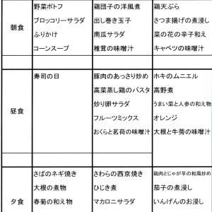【たんぽぽ森本の家】 ★献立表 9/29~10/5★