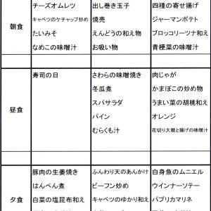 【たんぽぽ森本の家】 献立表★8/25~8/31★