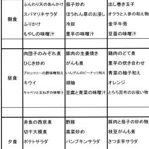 【たんぽぽ森本の家】 献立表★9/1~9/7★