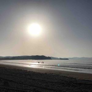 江の島 由比ガ浜 材木座 葉山一色でまったり~ 黄砂襲来か?