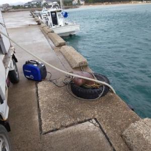 今季初の海水汲み作業