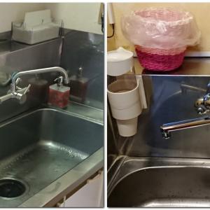 水道蛇口を自動水栓やレバー式水栓へ改装いたしました
