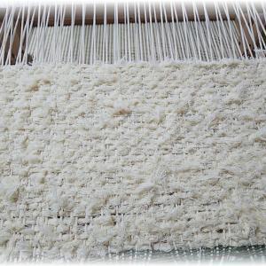 ~太い経糸の織りは~