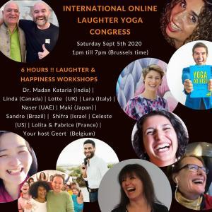 笑いヨガ世界大会2020年9月、オンラインで開催決定!