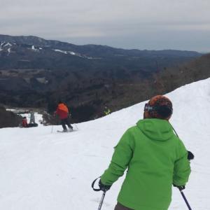 スキー楽しい〜