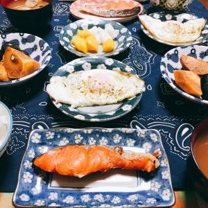 和食で朝ごはん〜〜
