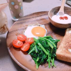 トーストで朝ごはん