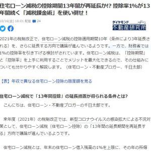 【 住宅ローン減税延長なるか? 】