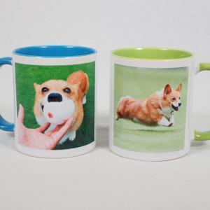 飛行犬オプショングッズ 愛犬の写真入りマグカップでホッと一息いかがですかー?
