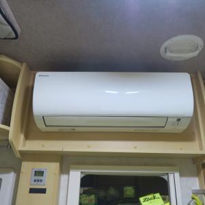 家庭用エアコンを一晩動かした&その後のサブバッテリー電圧