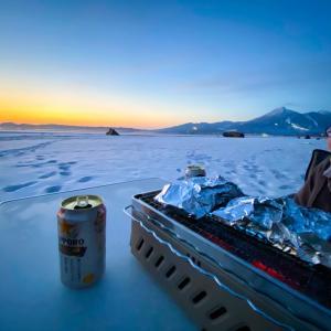 雪中キャンプ可能な「天神浜オートキャンプ場」のロケーションが素晴らしかった~\(^o^)/
