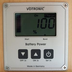 Votronicバッテリー残量計の表示をスマホで確認