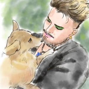 Adam Lambert & His buddy Pharaoh