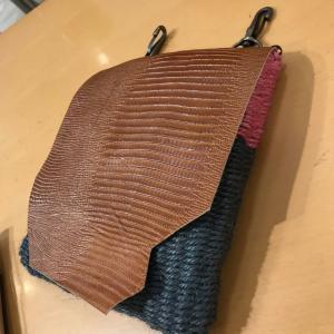 渋谷レッスンは、一日で2作品完成&リュックも着々!輪織りコンクールへの秘策ごにょごにょね。