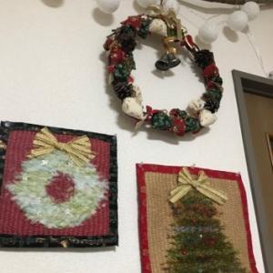 アトリエをクリスマス仕様にチェンジして、千葉の加納さん教室展明日から開催、応援してます〜!
