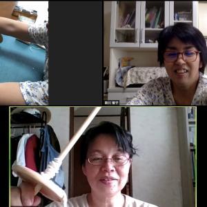 梅雨の晴れ間を生かしてロンバケ終わり!糸紡ぎ最初の一歩に感激して、道具選びは大切だよね〜。