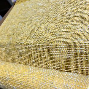 朝晩ひんやり心地よく元気カラーの大物織り上げ、手織りの歴史辿ってしみじみだ〜!
