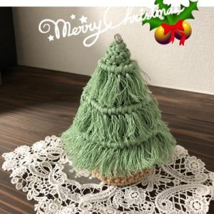 マクラメでクリスマスツリー!