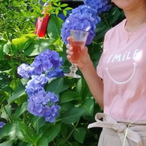 紫陽花とロゼ。
