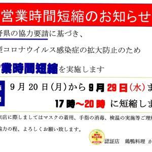 長野県上田市現在状況について 鶏鴨料理 かぶらや 新型コロナウィルス感染症への対策策!