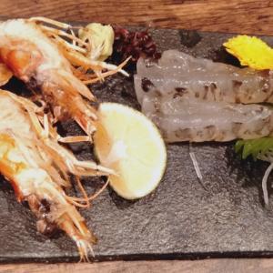 海鮮浜焼きうおひろ 活け車海老 おどり 塩焼き 生牡蠣 蒸し牡蠣 焼き牡蠣 小松菜キムチ