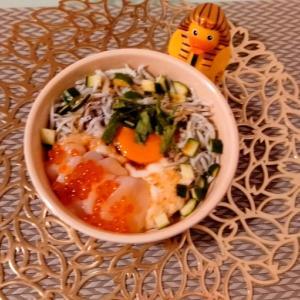 SAKU的雑料理 いくらとろろ海鮮丼 ワイン 門限やぶり はしご酒 さくらんぼ