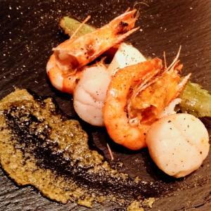 北新地 鉄板焼&Restaurant Bar Caro シャンパン lanson フォアグラ