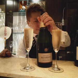 北新地 キッチンバーメランジュ champagne  アンリオ ワインバー グラタンバー 野菜