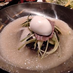 焼肉冷麺ユッチャン 北新地 葛冷麺 ハワイグルメ ランチ 冷たい麺 韓国料理 カルビ タン塩