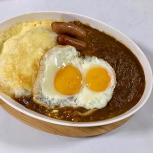 【夕食は『焼きカレー』2酢類】