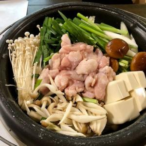 【夕食は『モツ鍋』です ★  おつまみで『生ハムピザ(ハーフ)』 ★『モツ鍋』の〆は『うどん』】