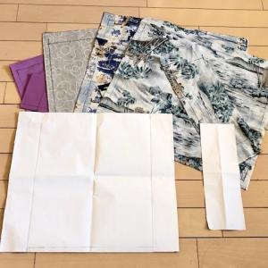 【久しぶりにハンドメイド~~~♪  レジ袋と同じサイズのエコバッグの型紙  ★ 今日の夕食(おつまみ)は・・・】