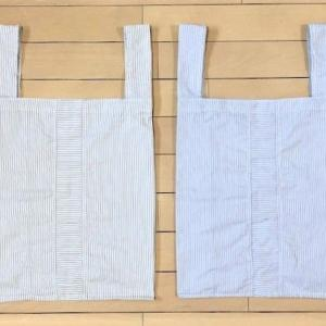 【「ワイシャツ」をリメイクして『エコバッグ』作りました  ★ 暑いので夕食は『そうめん』】