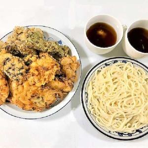 【夕食のメニューは『天ぷら』&『讃岐うどん』 ★ 『天ぷら』の衣には水の代わりに「炭酸水」 ★  『讃岐うどん』は「るみばあちゃんのおうどん」】