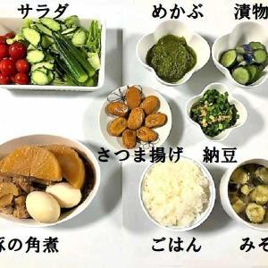 【今日の夕食は(も)ふたり別々のメニュー ★ 『和定食風夕食』と『焼きダムカレー』】