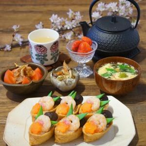 春の飾りいなり寿司