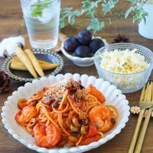 成城石井のお惣菜を使って、お店のようなパスタ