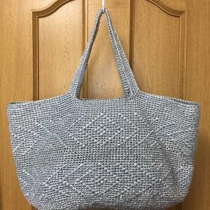エコアンダリヤのバッグ編みあがりました^^