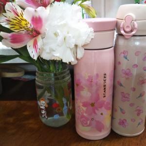 【新旧】スタバさくらのサーモス水筒