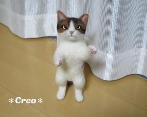 羊毛 立ち猫