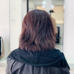 ストレートウェーブ+カラーで扱いやすく髪質改善⭐︎