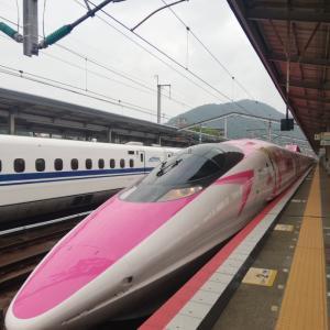 テンション上がる~☆ピンク色の新幹線に乗りました☆
