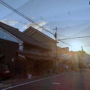 陽が落ちる宿場町