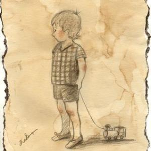 「子供」の習作(鉛筆)